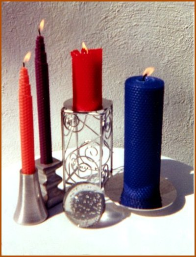 Plain Beeswax Candles